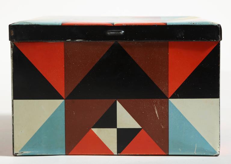 Martel Schwichtenberg German Bauhaus Tin Box In Excellent Condition For Sale In New York, NY