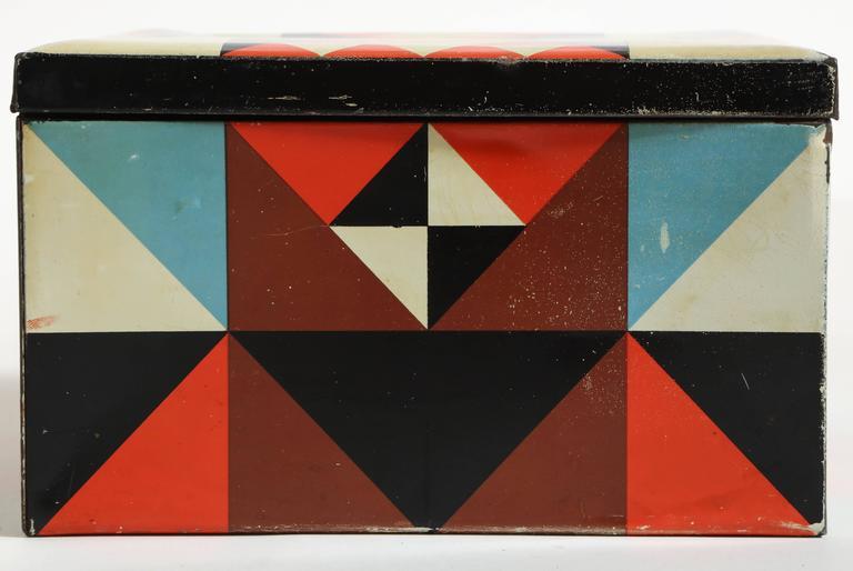 20th Century Martel Schwichtenberg German Bauhaus Tin Box For Sale