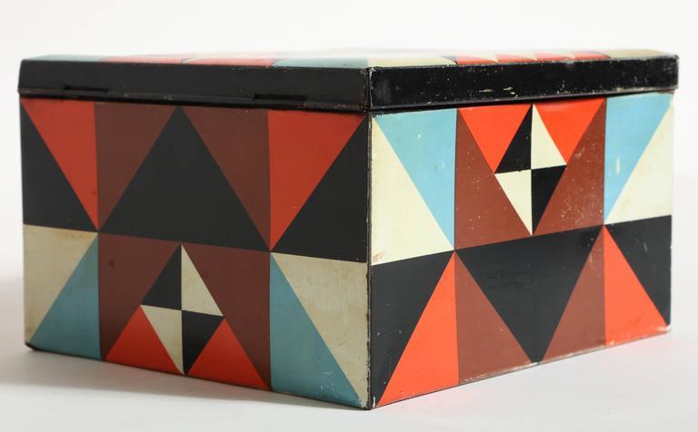 Martel Schwichtenberg German Bauhaus Tin Box For Sale 1
