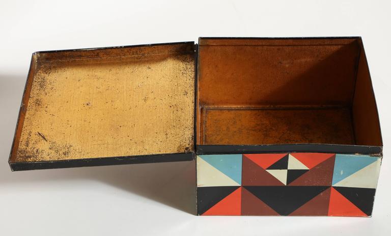 Martel Schwichtenberg German Bauhaus Tin Box For Sale 2