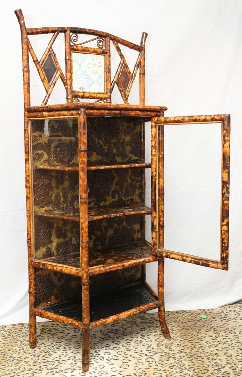 Fine 19th Century English Lacquer Bamboo Cabinet For Sale 1