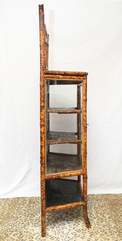 Fine 19th Century English Lacquer Bamboo Cabinet For Sale 2