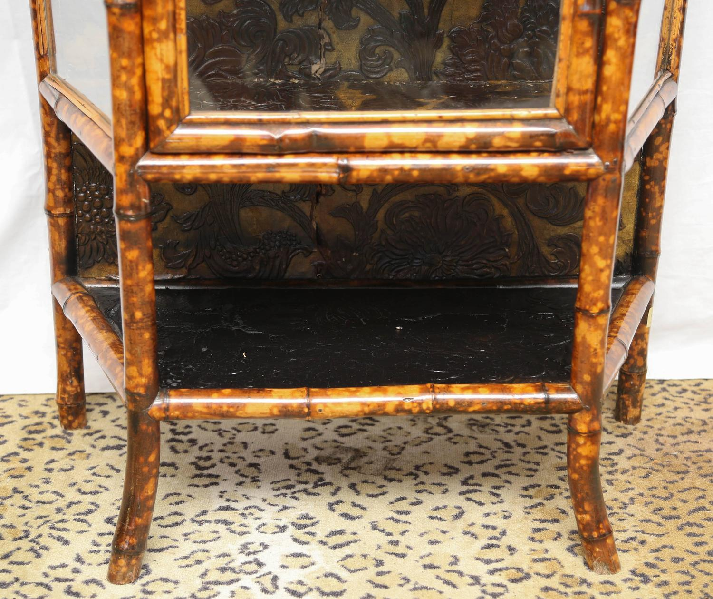 Fine 19th century english lacquer bamboo cabinet for sale for Bamboo kitchen cabinets for sale