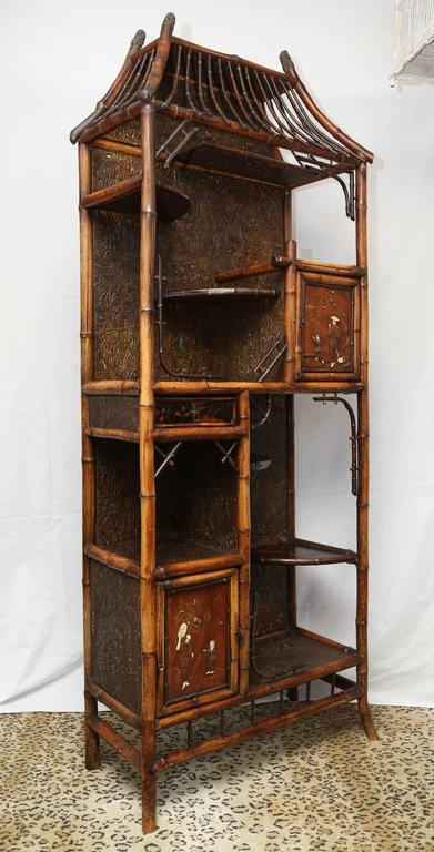 19th century english bamboo etagere for sale at 1stdibs for Bamboo kitchen cabinets for sale