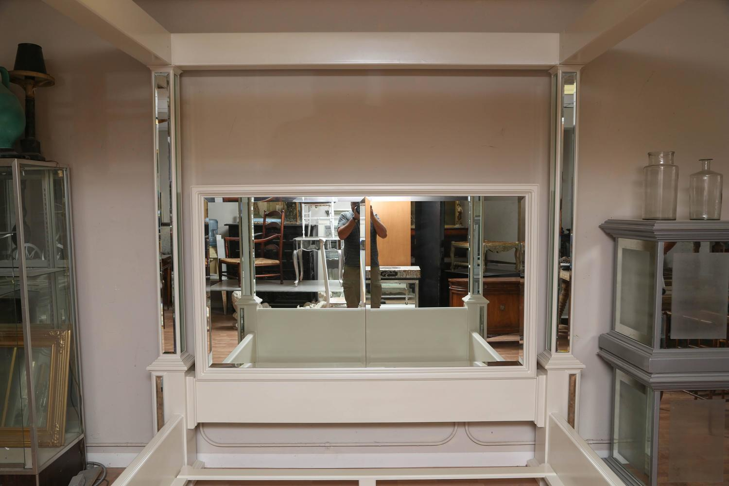 Modern King Size Canopy Mirrored Bed For Sale At 1stdibs