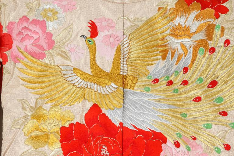 20th Century Vintage Silk Brocade Japanese Ceremonial Kimono For Sale