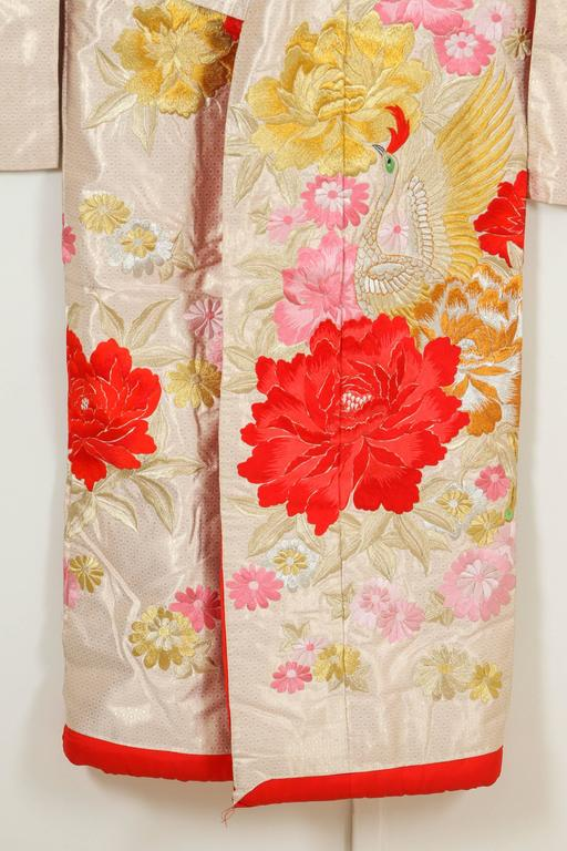 Vintage Silk Brocade Japanese Ceremonial Kimono For Sale 2