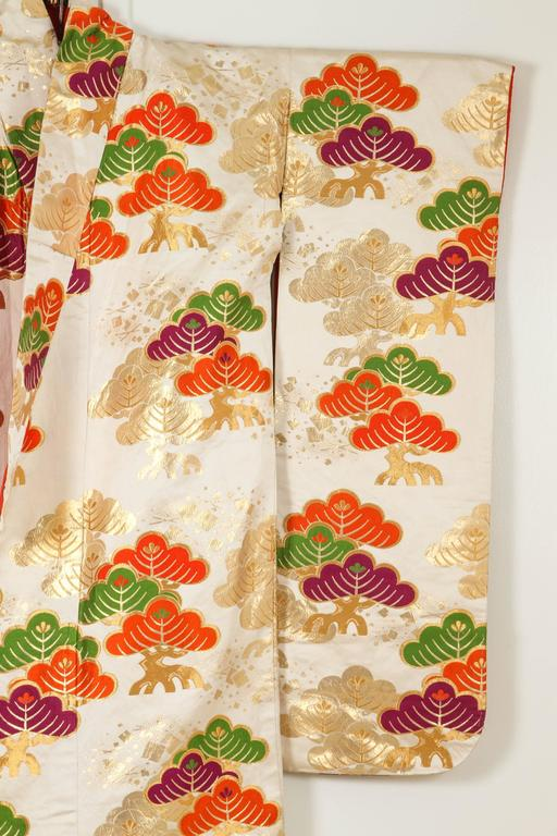 Vintage Silk Brocade Japanese Ceremonial Kimono For Sale 3