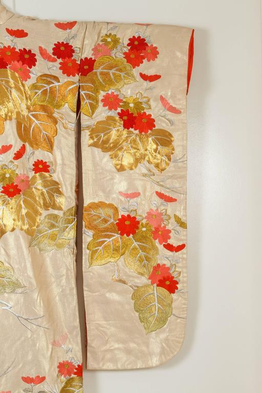 Japonisme Vintage Brocade Japanese Ceremonial Kimono For Sale