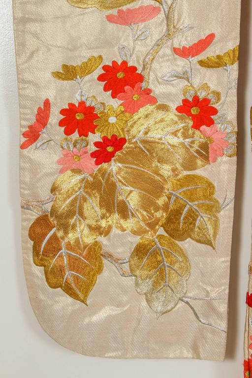 20th Century Vintage Brocade Japanese Ceremonial Kimono For Sale