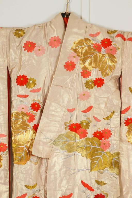 Vintage Brocade Japanese Ceremonial Kimono For Sale 1