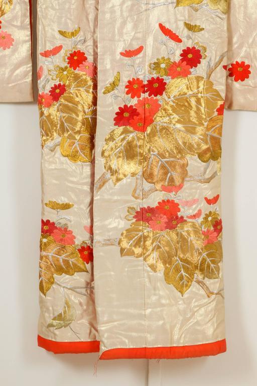 Vintage Brocade Japanese Ceremonial Kimono For Sale 2