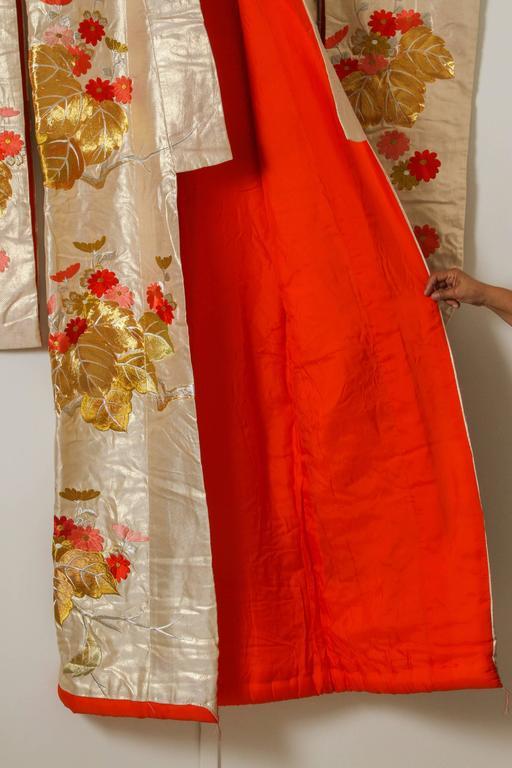 Vintage Brocade Japanese Ceremonial Kimono For Sale 3