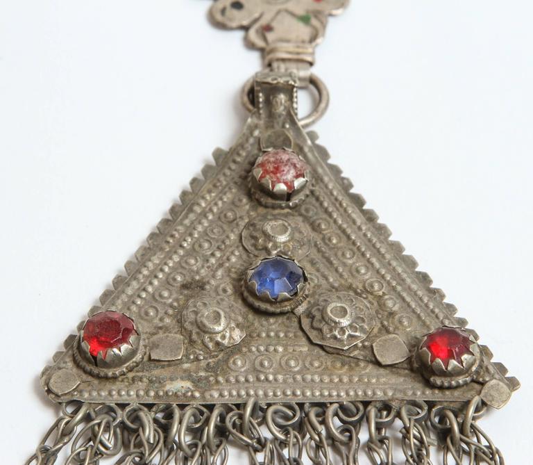 Vintage Moroccan Fibula In Good Condition For Sale In Los Angeles, CA