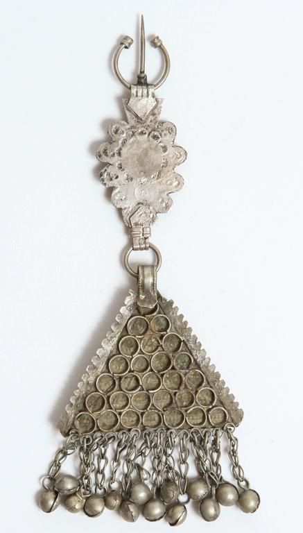 Glass Vintage Moroccan Fibula For Sale