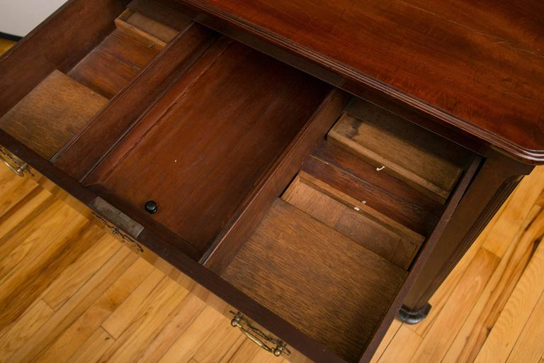 Georgian Mahogany Architects Table In Excellent Condition For Sale In Mt Kisco, NY
