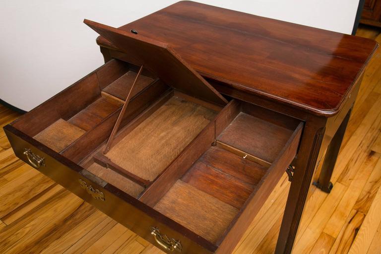 English Georgian Mahogany Architects Table For Sale