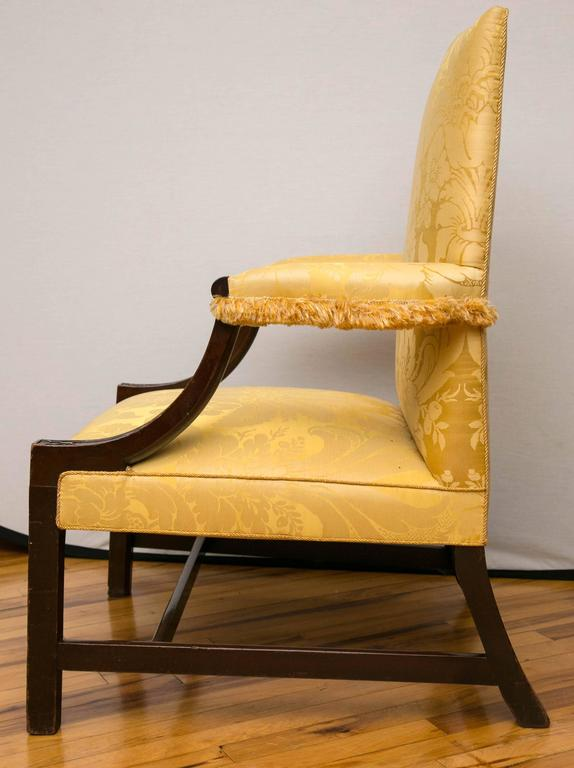 Georgian Mahogany Gainsborough Library Armchair In Good Condition For Sale In Mt Kisco, NY