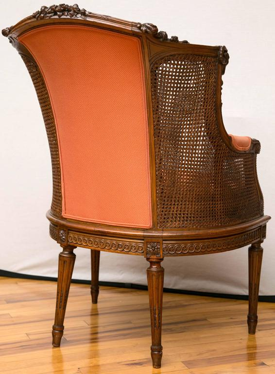 Carved A Late Victorian Caned Mahogany Library Chair  For Sale