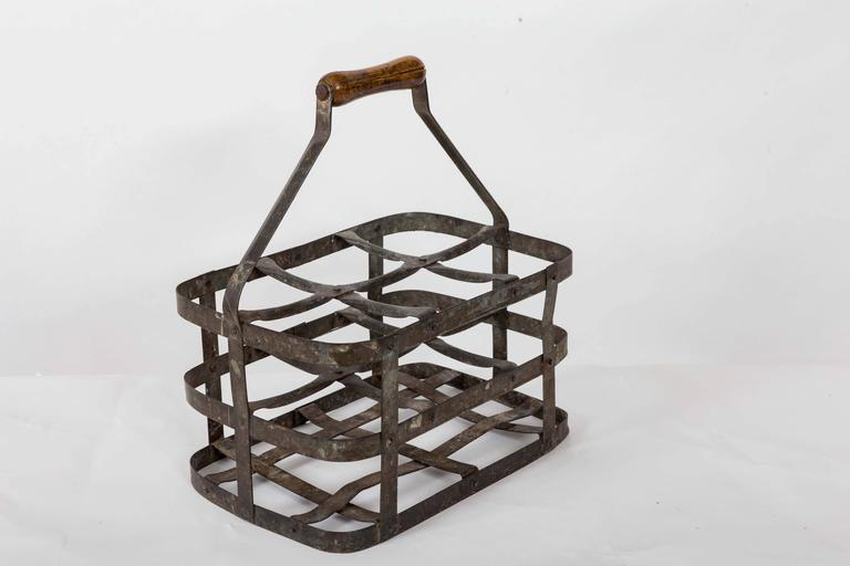Turn-of-the-Century Metal Bottle Carrier, France, circa 1900 For Sale 2