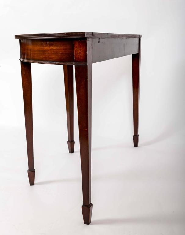 Pair of 19th Century Mahogany Demilune Tables, England, circa 1870 For Sale 2