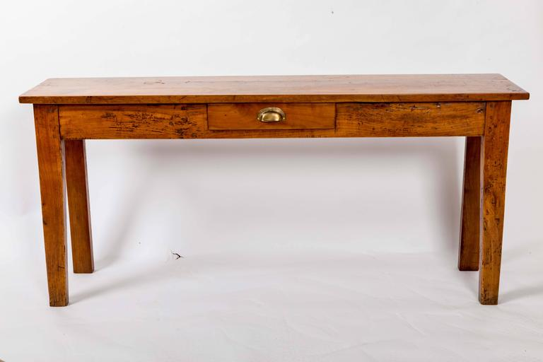 Late 19th Century 19th Century Cherrywood Server, France, circa 1890 For Sale