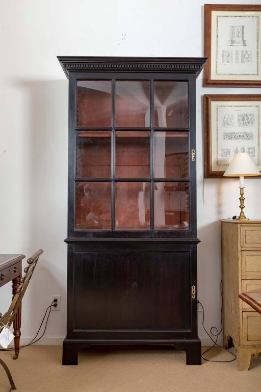 Pair of 18th Century Georgian Ebonized Bookcases, England, circa 1780-1790 4