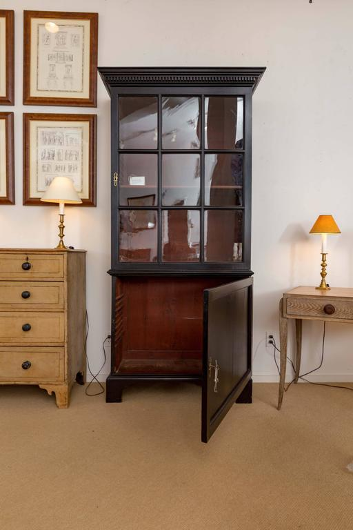 Pair of 18th Century Georgian Ebonized Bookcases, England, circa 1780-1790 9