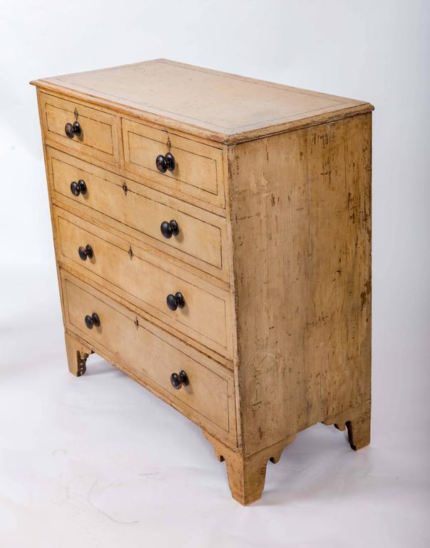 English Early 19th Century Painted Chest of Drawers, England, circa 1840 For Sale