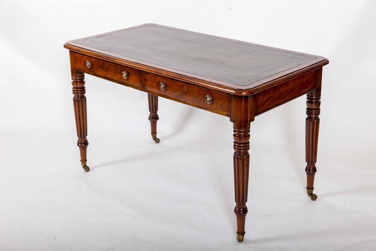 Early 19th Century Mahogany Writing Table, England, circa 1840 4