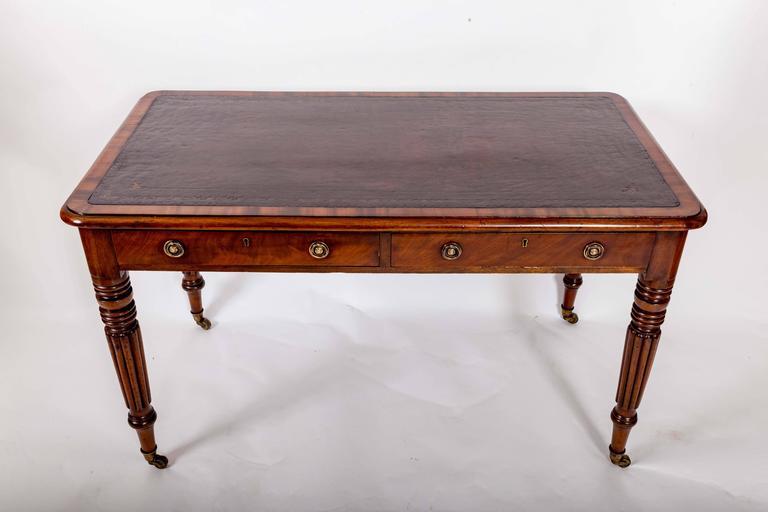 Early 19th Century Mahogany Writing Table, England, circa 1840 5