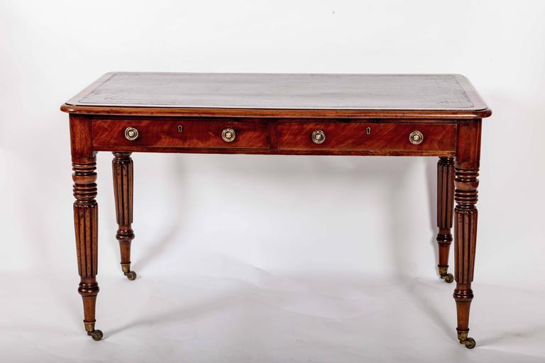 Early 19th Century Mahogany Writing Table, England, circa 1840 6