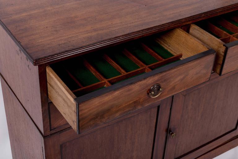 Early 19th Century Mahogany Storage Cabinet, England, circa 1820 5