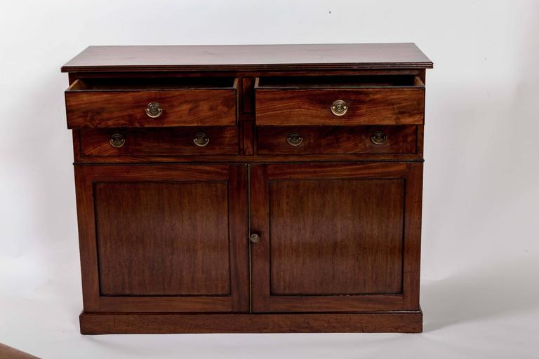 Early 19th Century Mahogany Storage Cabinet, England, circa 1820 6
