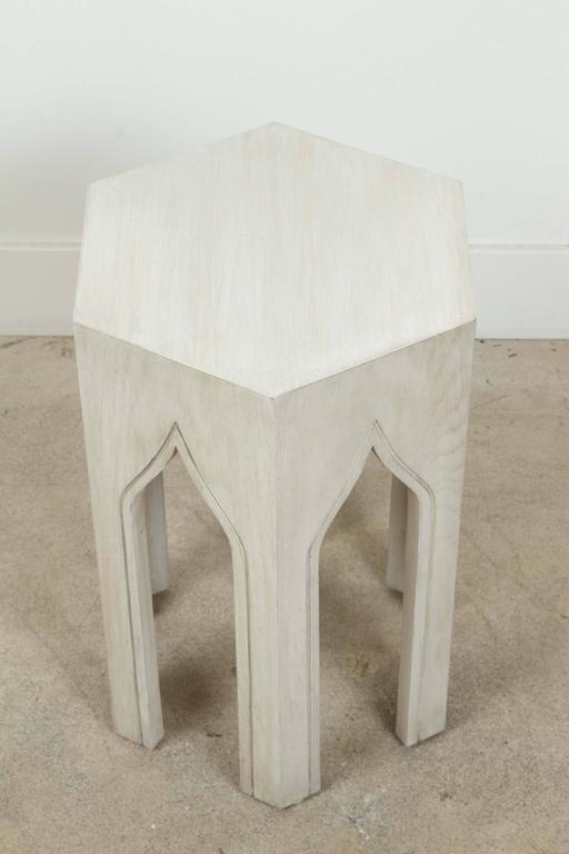 Whitewashed Tabouret Table by Lawson-Fenning 4