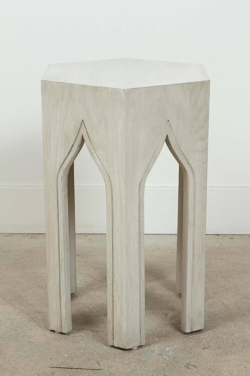 Whitewashed Tabouret Table by Lawson-Fenning 5