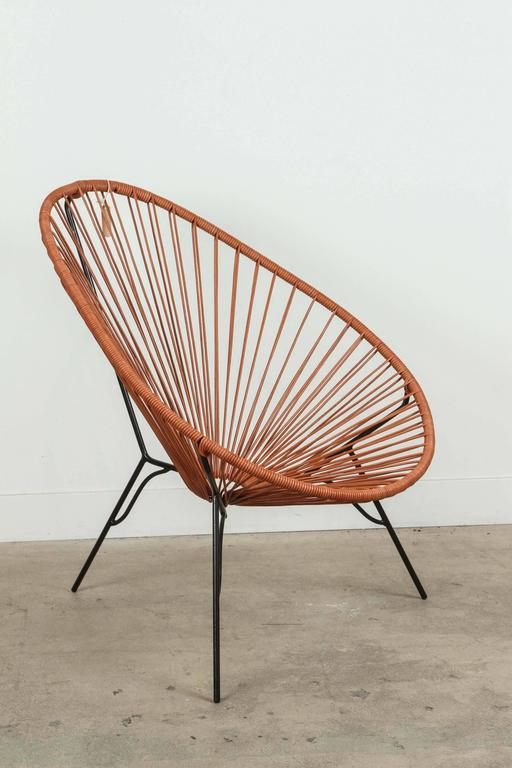 Blue Lagoon Chair with Leather Cord by Leon Leon at 1stdibs