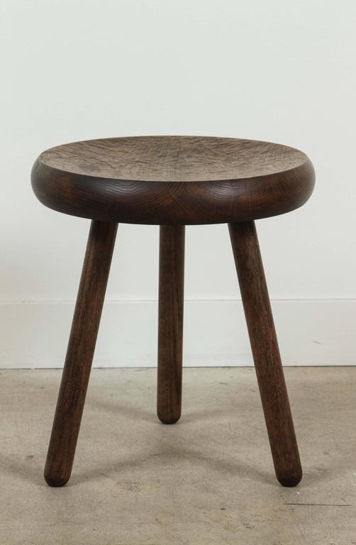 Dibbet stool by De Jong & Co. in Oxidized Oak