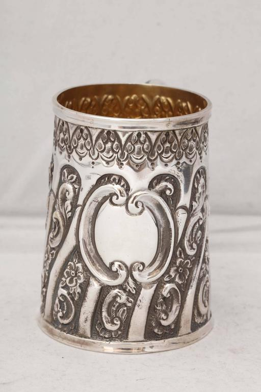 English Victorian Sterling Silver Baby Cup For Sale