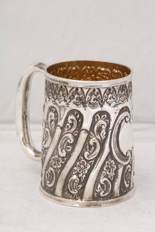 Victorian Sterling Silver Baby Cup In Excellent Condition For Sale In New York, NY