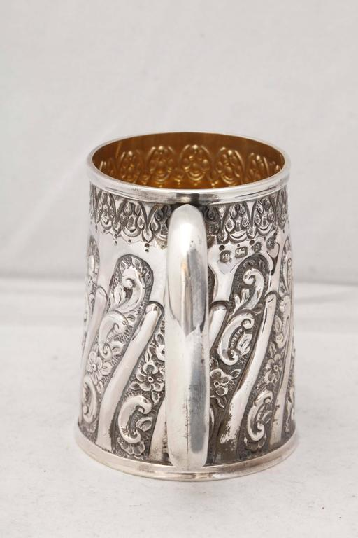 Late 19th Century Victorian Sterling Silver Baby Cup For Sale