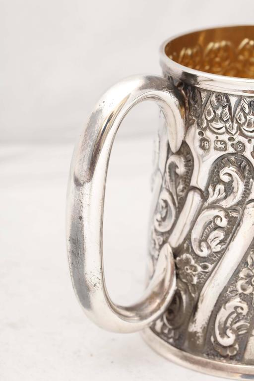 Victorian Sterling Silver Baby Cup For Sale 2