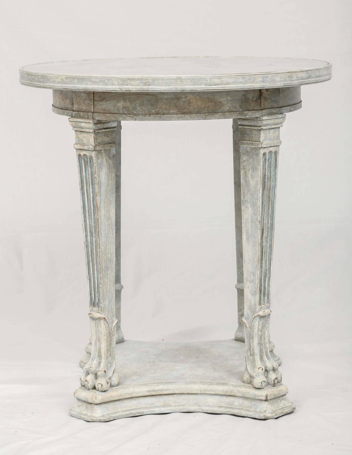 Round Occasional Table With Mirrored Top For Sale At 1stdibs
