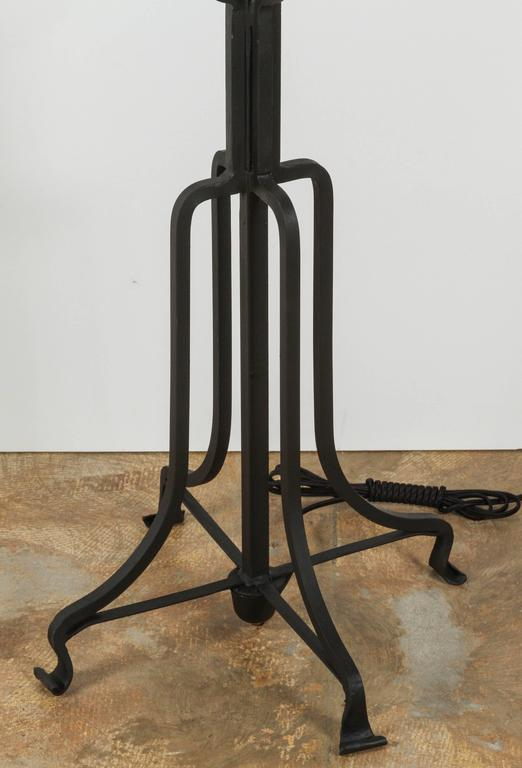 American Tommi Parzinger Iron Floor Lamp For Sale