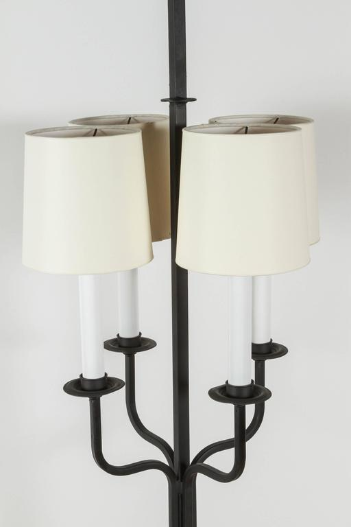 Mid-20th Century Tommi Parzinger Iron Floor Lamp For Sale