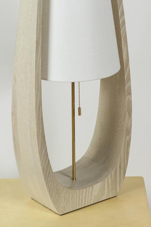 Wishbone Table Lamp in Gray Ceruse Oak 5