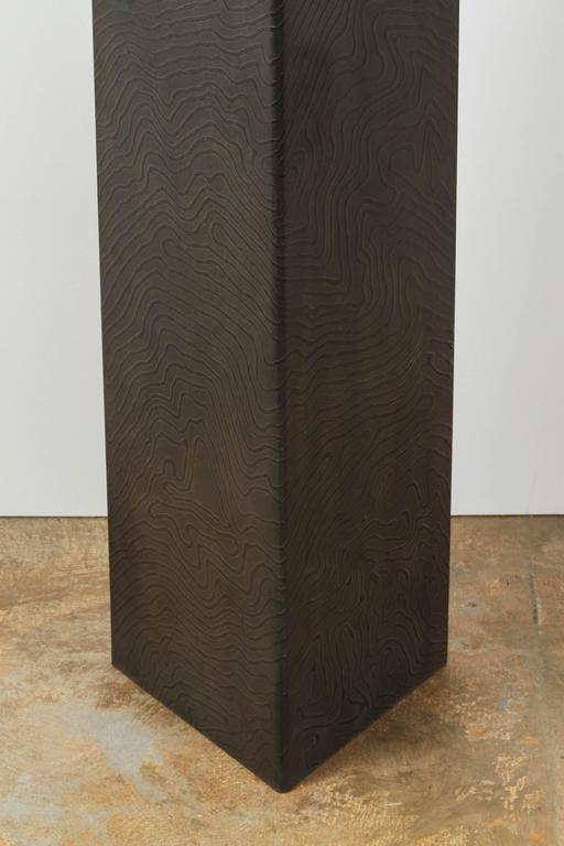 Paul Marra Textured Steel Solitaire Floor Lamp 7