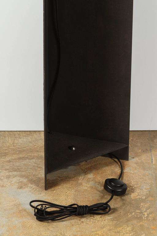 Paul Marra Textured Steel Solitaire Floor Lamp 10