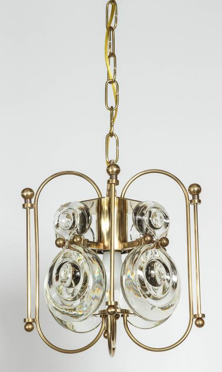 Mid-Century Gaetano Sciolari lantern style pendant, restored including new finish and electrical.