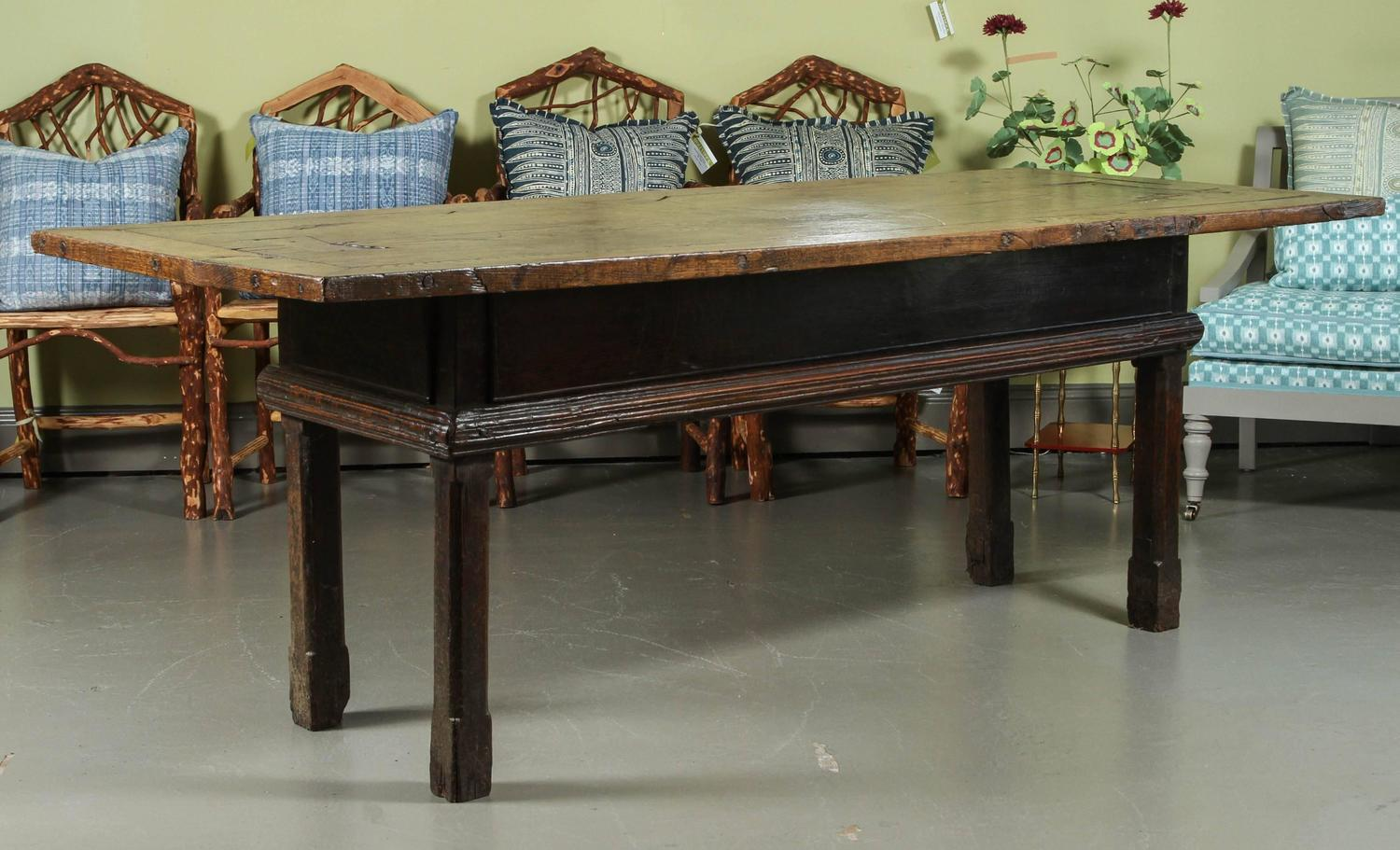 Large portuguese oak table circa for sale at stdibs